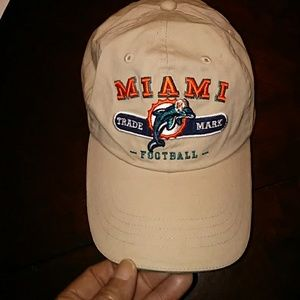 Adjustable Miami Dolphins Khaki Cap
